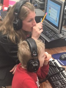 Tutor and child at Windsor Oaks Elementary