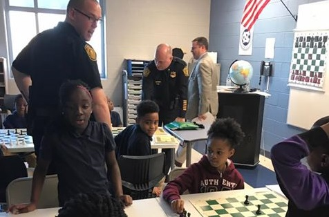 Norfolk Police Teach Chess at Richard Bowling Elementary